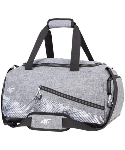 c26e745e7daec Torba podróżna  walizka 4F Torba sportowa damska TPD002 - jasny szary  melanż -