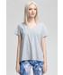 Bluzka 4F T-shirt damski TSD415 - ciepły jasny szary  melanż