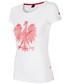 Bluzka 4F Koszulka kibica damska TSD500 - biały