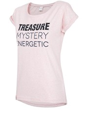 Bluzka T-shirt damski TSD276 - jasny róż melanż - - 4f.com.pl 4F