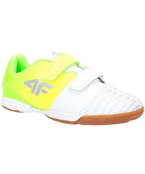 sportowe buty dziecięce 4F Halowe buty piłkarskie dla małych chłopców JOBMP301z wielokolorowy