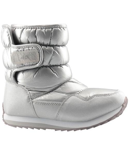 d6640f3c śniegowce dziecięce 4F Buty zimowe dla dużych dzieci (dziewcząt) JOBDW205 -  srebrny