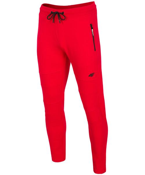 b51935abb 4F Spodnie dresowe męskie SPMD203 - czerwony, spodnie męskie - Butyk.pl