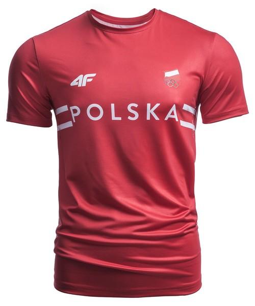 caf47b54f T-shirt - koszulka męska 4F Koszulka treningowa męska Polska Pyeongchang  2018 TSMF900 - czerwony