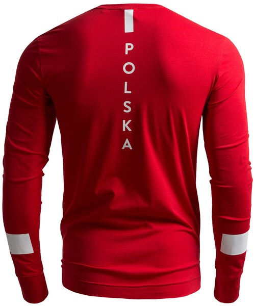 124ae0dd8 T-shirt - koszulka męska 4F Longsleeve męski Polska Pyeongchang 2018  TSML210 - CZERWONY WIŚNIOWY