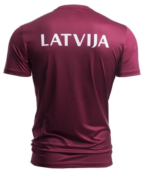 3a563ab95cdb58 T-shirt - koszulka męska 4F Koszulka funkcyjna męska Łotwa Pyeongchang 2018  TSMF800 - bordowy