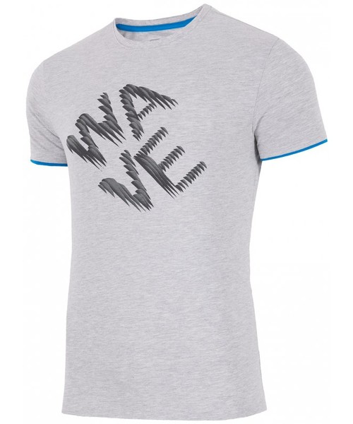 afc2416f4 4F T-shirt męski TSM019 - jasny szary melanż -, T-shirt - koszulka ...