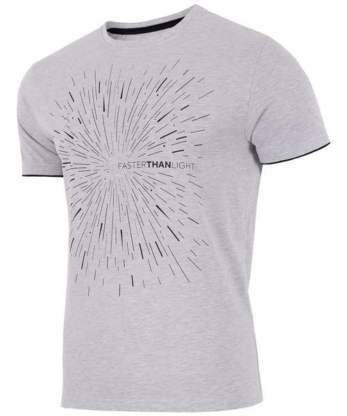0f58752ac 4F T-shirt męski TSM211 - jasny szary melanż -, T-shirt - koszulka ...