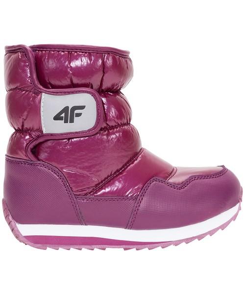 a743099f4 Buty dziecięce 4F Buty zimowe dla małych dziewczynek JOBDW107Z - bordowy -