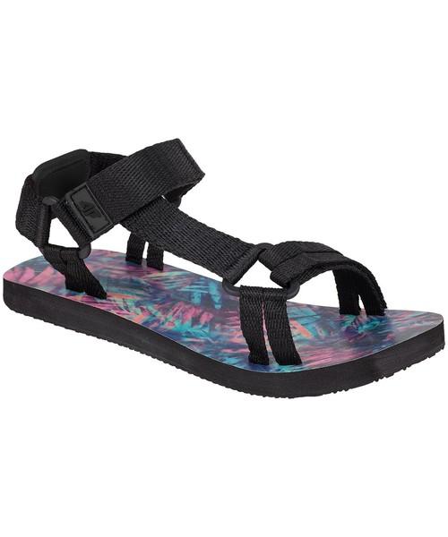 4F Sandały Sandały damskie czarne w