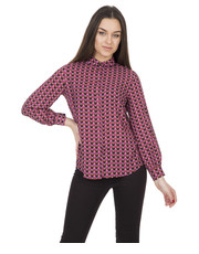 Koszula Luźna koszula we wzory z długim rękawem - Bialcon.pl Bialcon
