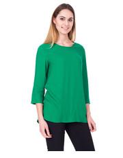 Bluzka Zielona bluzka z rękawem 3/4 oraz kieszeniami - Bialcon.pl Bialcon