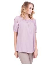 Bluzka Bawełniana luźna bluzka w kolorze różowym - Bialcon.pl Bialcon
