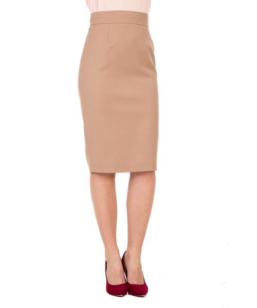 a01f400c3f Spódnica Bialcon Beżowa ołówkowa spódnica z wysokim stanem