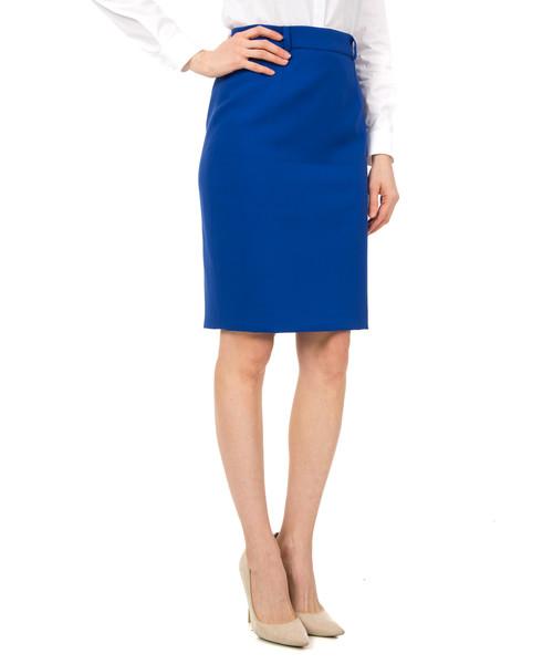 Niebieska ołówkowa spódnica BIALCON
