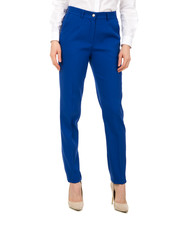 Spodnie Niebieskie spodnie w kant z kieszeniami - Bialcon.pl Bialcon