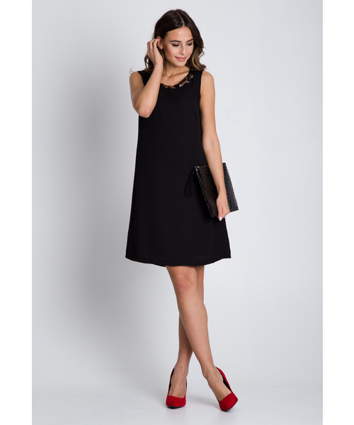 90503661e5 Sukienka Bialcon Czarna sukienka typu parasolka