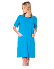 Sukienka Bawełniana turkusowa sukienka - Bialcon.pl Bialcon