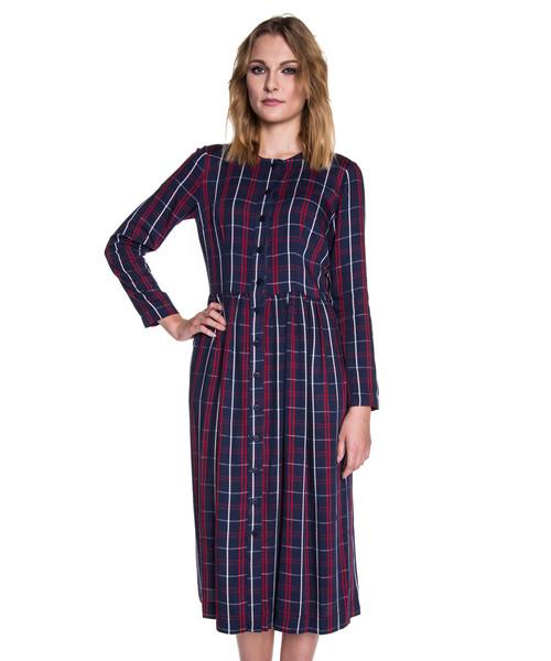 b1d948e153 Sukienka Bialcon Wiskozowa sukienka maxi zapinana na guziki