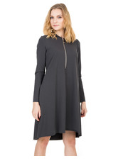 b540487c33f8b Sukienka Dzianinowa szara sukienka z kapturem - Bialcon.pl Bialcon