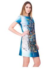 Sukienka Nowoczesna sukienka z krótkim rękawem - Bialcon.pl Bialcon