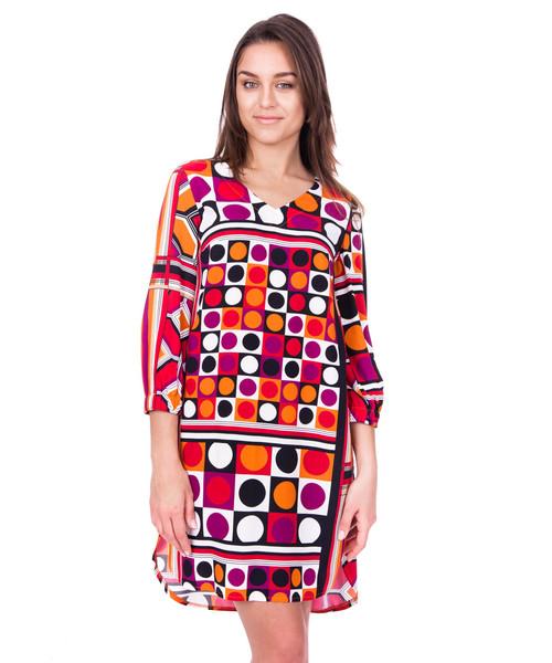 b80371815e Sukienka Bialcon Elegancka sukienka w oryginalne wzory