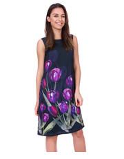 Sukienka Długa sukienka w kwiaty bez rękawów - Bialcon.pl Bialcon