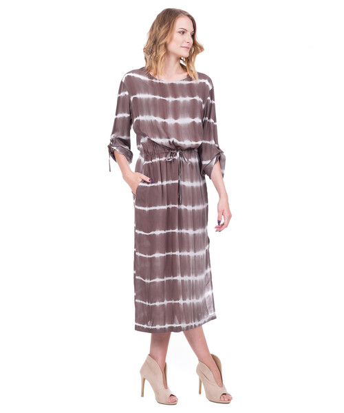 2f09eec323 Sukienka Bialcon Długa oliwkowa sukienka w stylu boho