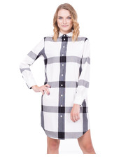 Sukienka Sukienka w dużą kratę z kołnierzykiem - Bialcon.pl Bialcon