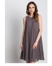 Sukienka Plisowana sukienka bez rękawów z podszewką - Bialcon.pl Bialcon