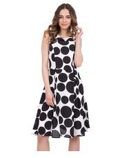 Sukienka Rozkloszowana sukienka w kolorze czarno-białym - Bialcon.pl Bialcon
