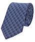 Krawat Lancerto Krawat Granatowy w Kwiatki