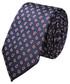 Krawat Lancerto Krawat Granatowy Paisley