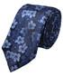 Krawat Lancerto Krawat Granatowy w Niebieskie Kwiaty