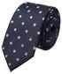 Krawat Lancerto Krawat Granatowy w Kropki
