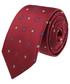 Krawat Lancerto Krawat Bordowy Jedwabny w Kwiatki