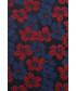 Krawat Lancerto Krawat Granatowy Jedwabny w Kwiaty