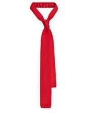 Krawat Krawat Dzianinowy Czerwony - Lancerto.com Lancerto