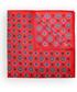 Poszetka butonierka Lancerto Poszetka Czerwona Wzór Geometryczny