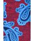 Poszetka butonierka Lancerto Poszetka Czerwono-Niebieska