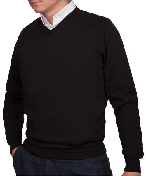 50c7255760bd Sweter męski Lancerto Sweter Bawełniany Matt Czarny