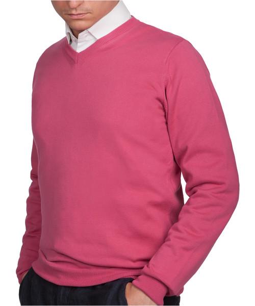 f3c5cc7a438c Sweter męski Lancerto Sweter Bawełniany Matt Różowy