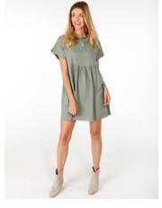 3d52a150c4 Sukienka SUKIENKA Z KRÓTKIMI RĘKAWAMI 141-9781 MILITAR - Unisono.eu Unisono