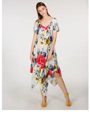 b1fef89560 Sukienka SUKIENKA W KWIATY 174-3075A PERLA - Unisono.eu Unisono