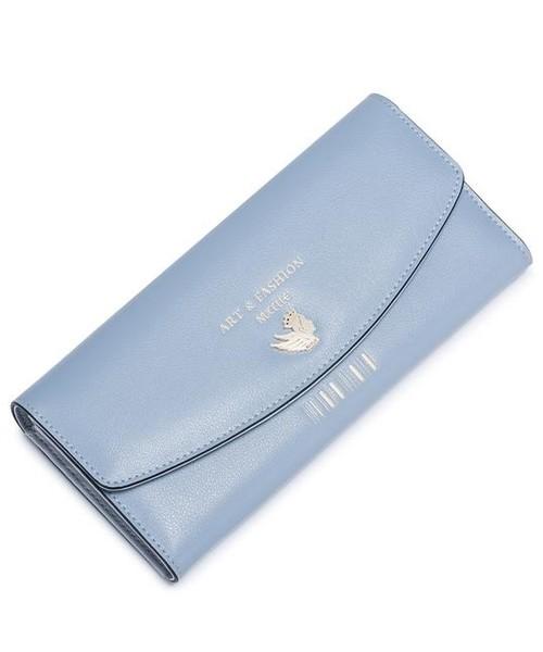 df7cc6dc3ef00 Portfel Nucelle Długi uroczy portfel Niebieski