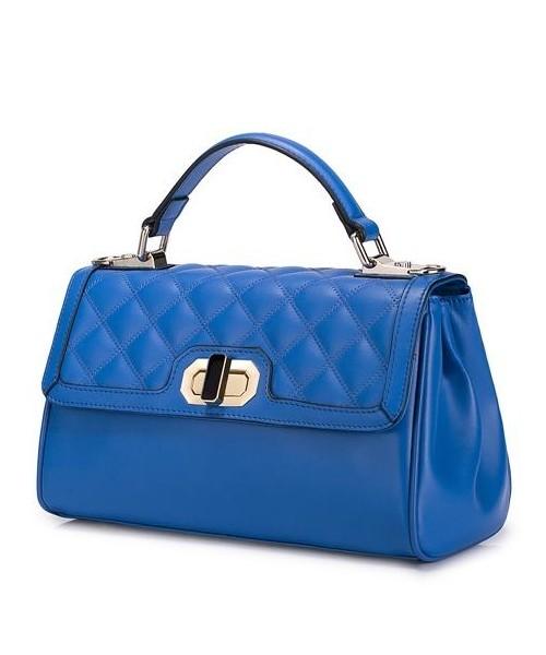 82d472fc4dba9 Nucelle Klasyczna i elegancka damska torebka Niebieska, torebka ...