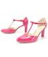 Czółenka Kotyl 889 FUKSJA - Piękne buty taneczne ze skóry