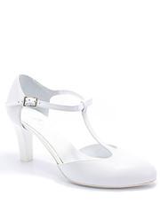 buty ślubne Kotyl - 889 BIAŁE LICO - Ślubne buty damskie ze skóry, buty taneczne