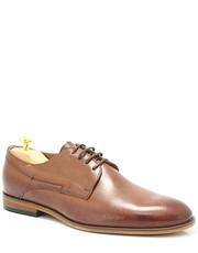 Półbuty męskie 2851 BRĄZ -  Eleganckie, skórzane buty męskie - Tymoteo.pl Man Fashion