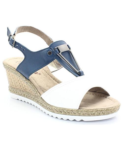 8f22fa6c Jana Shoes 8-28303-28 - Sandały ze skóry na koturnie, sandały - Butyk.pl